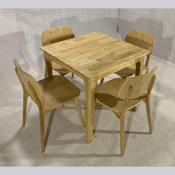 Bộ bàn ăn nan quạt vuông