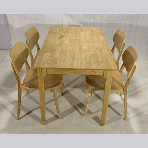 Bộ bàn ăn nan quạt