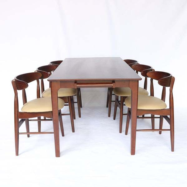 Bộ bàn ăn vầng trăng 6 ghế