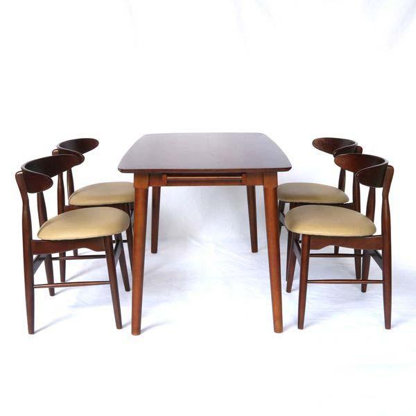 Bộ bàn ăn vầng trăng 4 ghế
