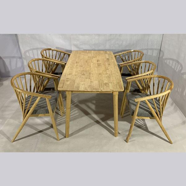 Bộ bàn ghế 12 nan 6 ghế
