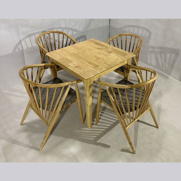 Bộ bàn ghế 12 nan vuông