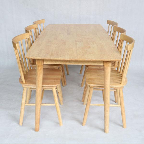 Bộ bàn ghế song tiện tự nhiên