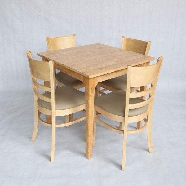 Bộ bàn ăn cabin vuông