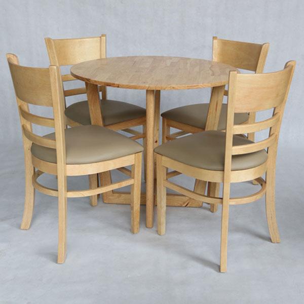 Bộ bàn ghế ăn cabin tròn