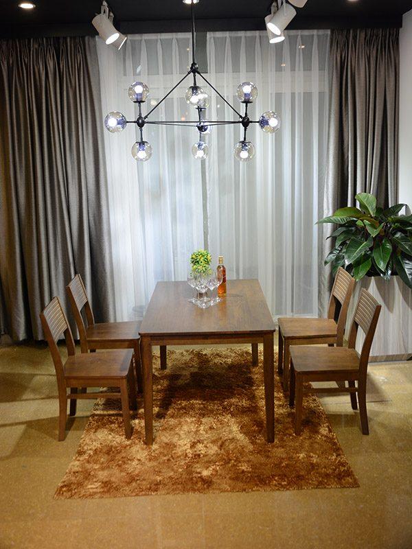 Bộ bàn ăn 4 ghế Brown Cherry
