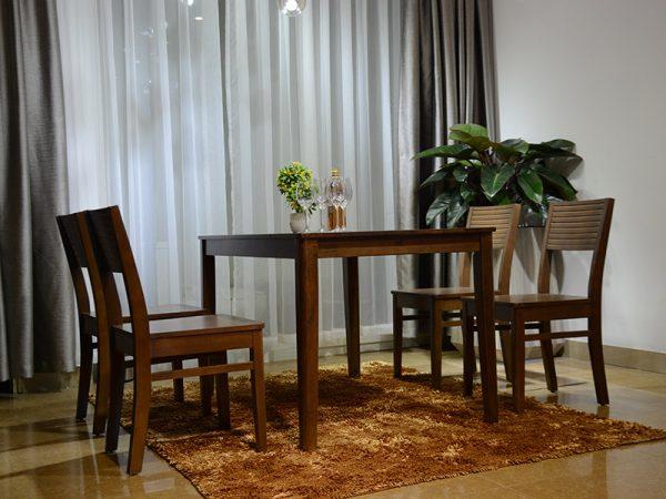 Bộ bàn ăn Brown Cherry 4 ghế