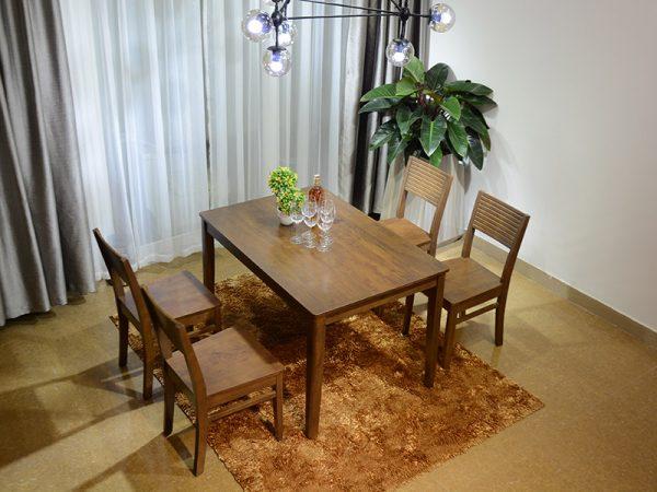 bàn ăn Brown Cherry 4 ghế