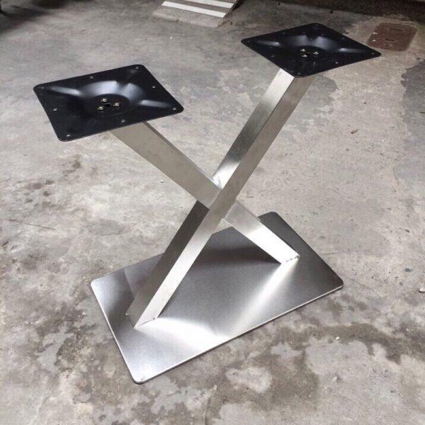 Chân bàn cafe inox hình chữ X