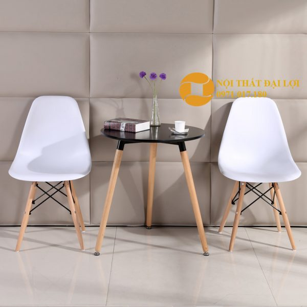 Combo 1 bàn 2 ghế Eames 60cm