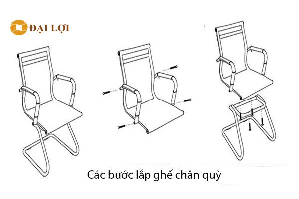 các bước hoàn thiện Lắp ráp ghế GL406