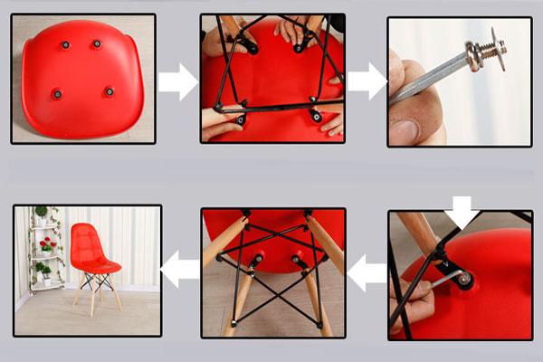Các bước lắp ghế Eames