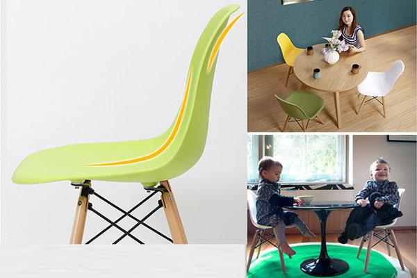 Ghế Eames là ghế cafe hiện đại, làm ghế ăn và nhiều ứng dụng khác