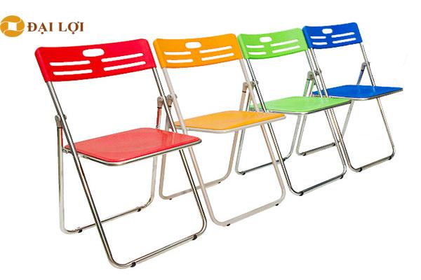 Ghế gấp G30I Inox nhiều màu sắc phù hợp với nhiều không gian nội thất