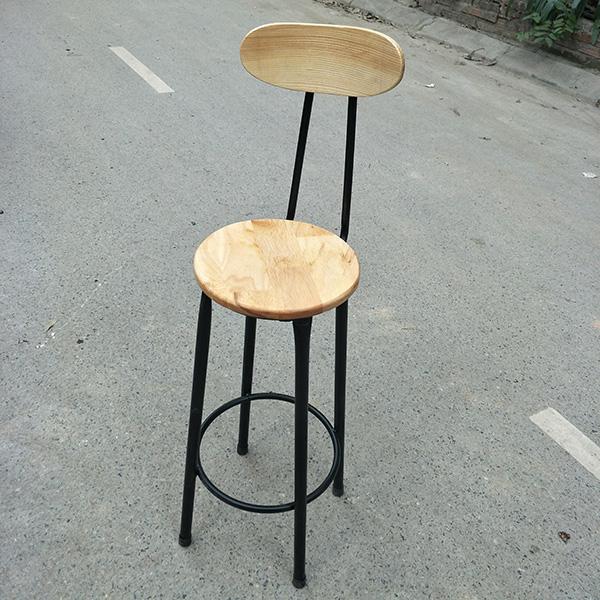 Khung ghế bar bằng sắt sơn tĩnh điện màu đen