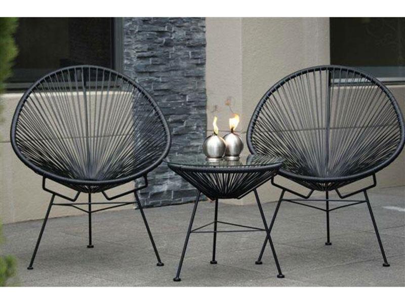 Ghế Acapulco được đưa vào các thiết kế vô cùng đẹp mắt