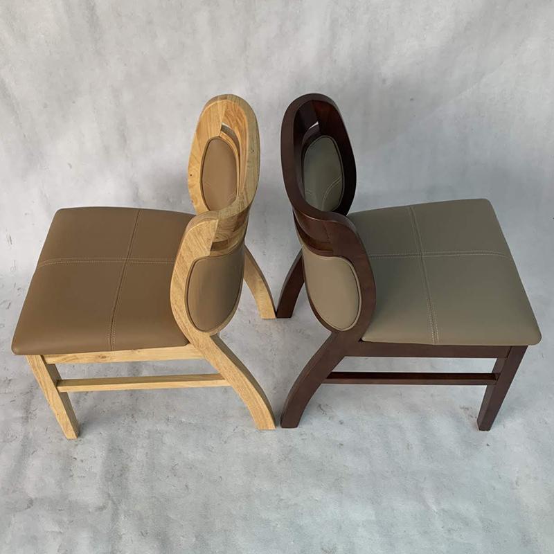 Ghế Ashley gỗ cao su có 2 màu nâu và tự nhiên
