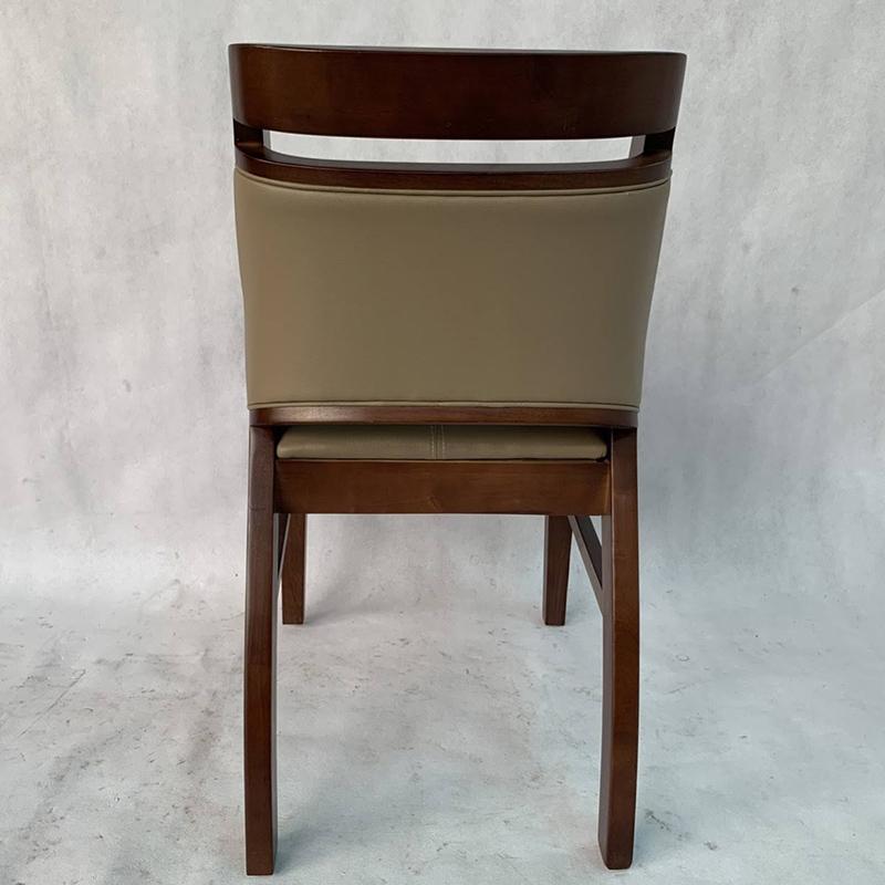 Ghế Ashley gỗ cao su mặt sau
