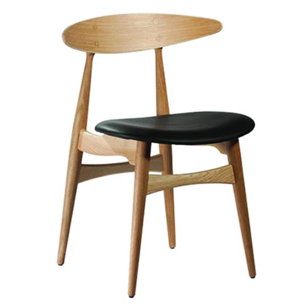 Ghế bàn ăn hiện đại Lunar màu vàng gỗ tự nhiên