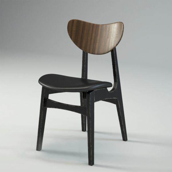 Ghế bàn ăn hiện đại Lunar được làm từ gỗ cao su thiên nhiên