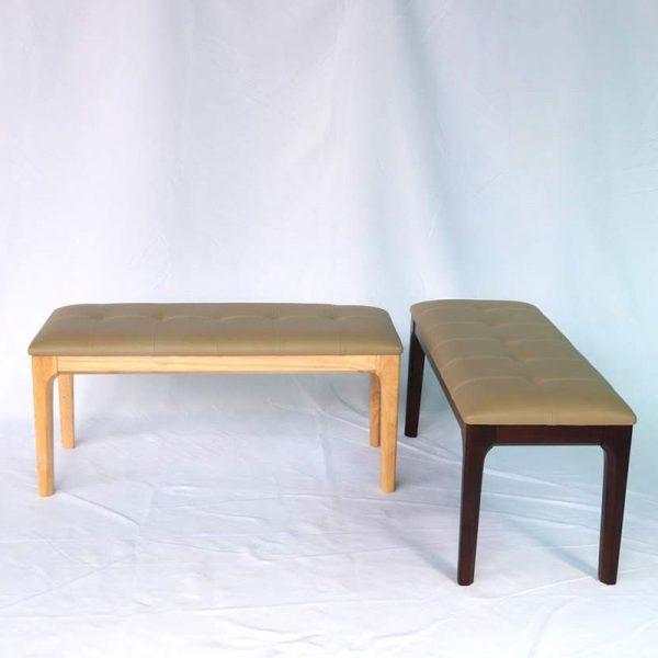 Ghế băng dài có 2 màu : nâu và tự nhiên