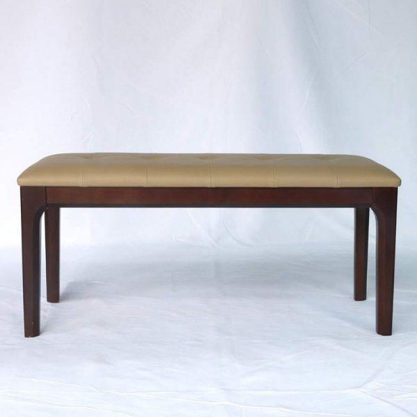 Ghế băng dài bằng gỗ màu nâu