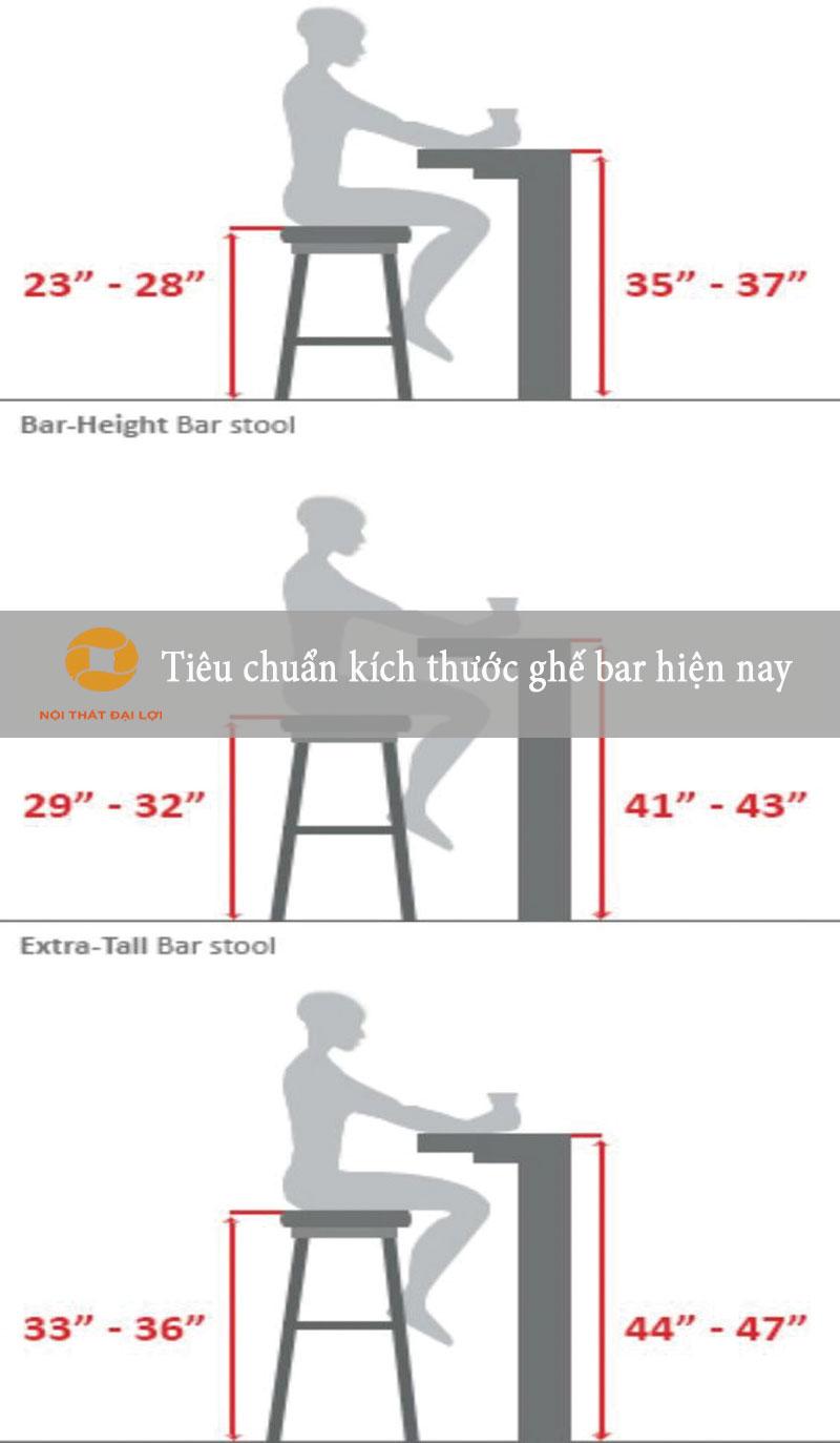 Kích thước tiêu chuẩnghế bar
