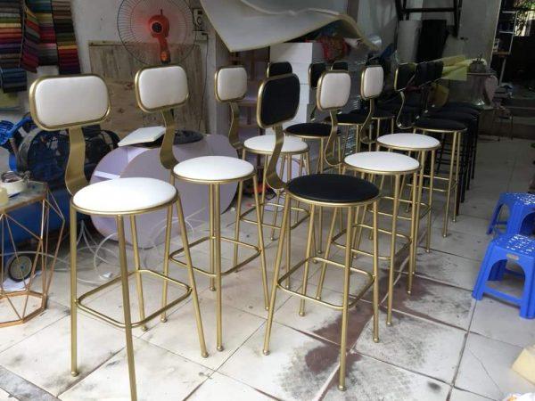 Ghế bar cao cấp mạ vàng cao 75cm