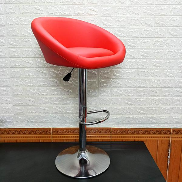 Ghế bar bọc đệm cao cấp màu đỏ