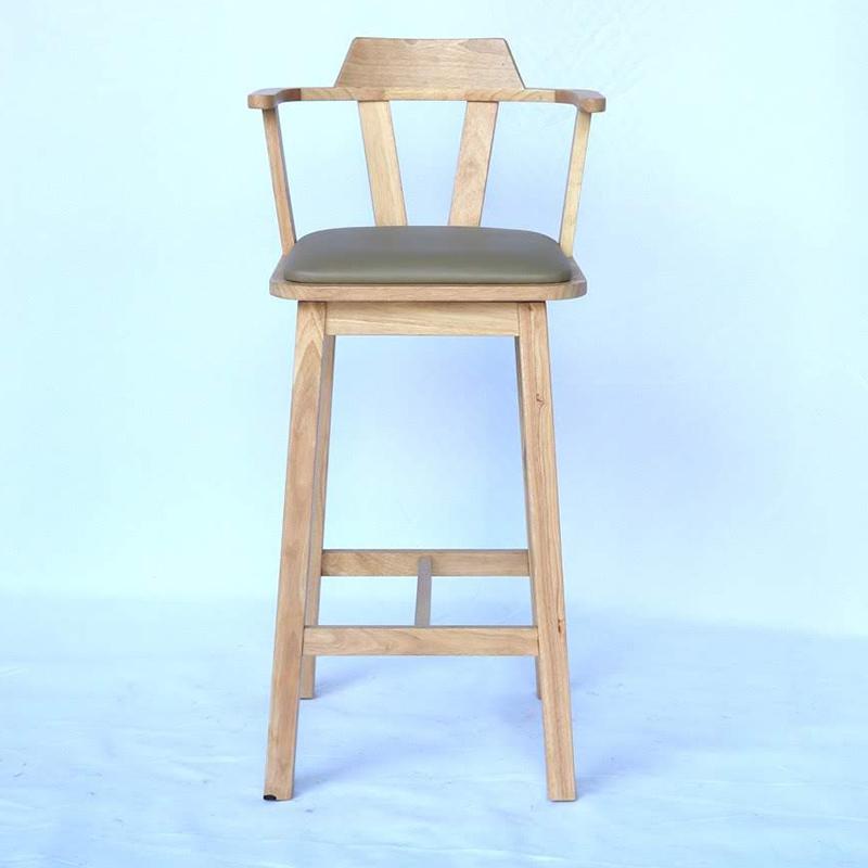 Ghế bar gỗ xoay 360 độ