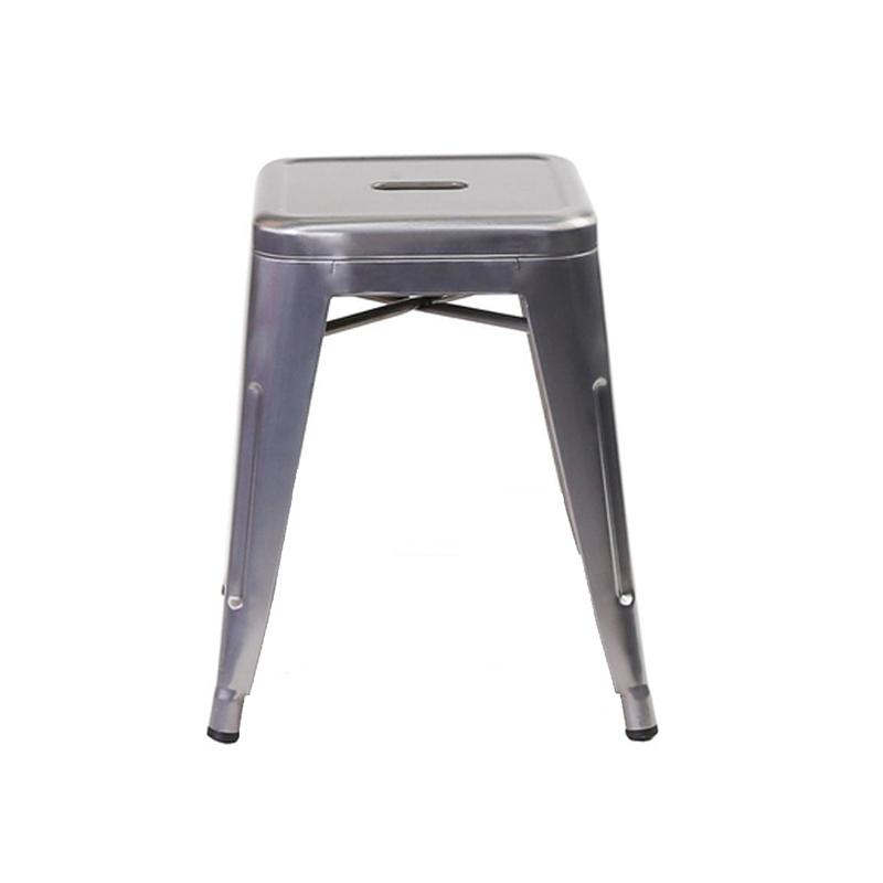 Ghế tolix đôn màu ghi bạc