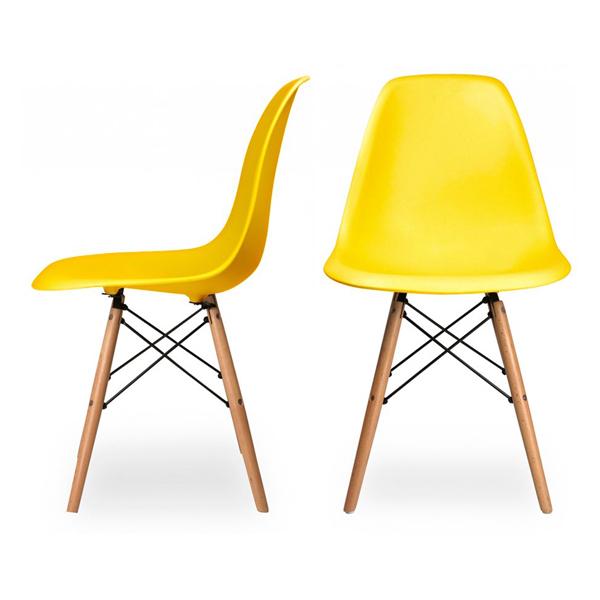 Ghế Eames màu vàng
