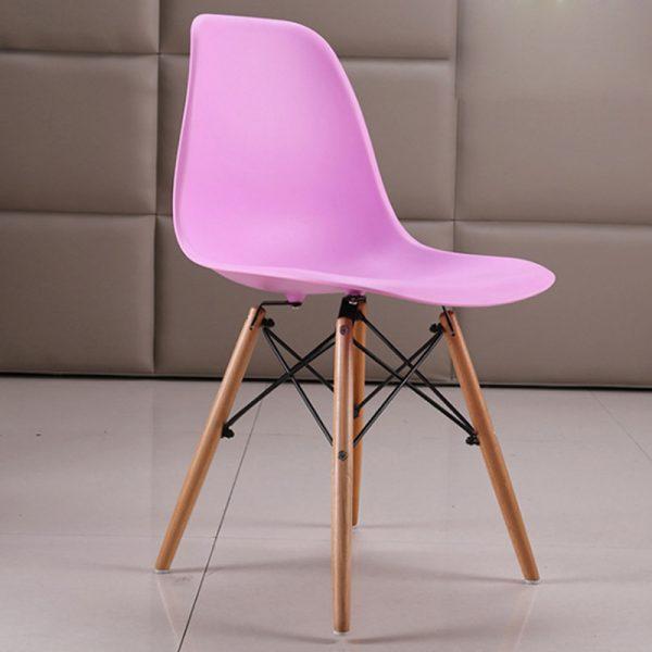 Ghế cafe eames màu hồng
