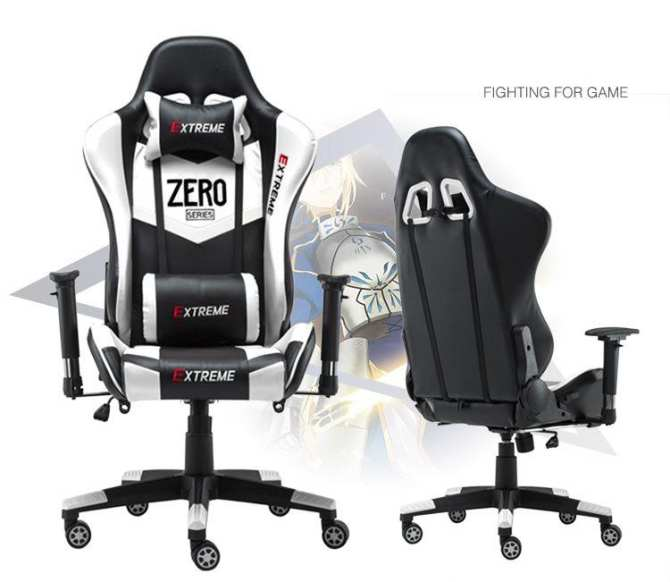 Ghế Gaming Extreme Zero V1 Black white