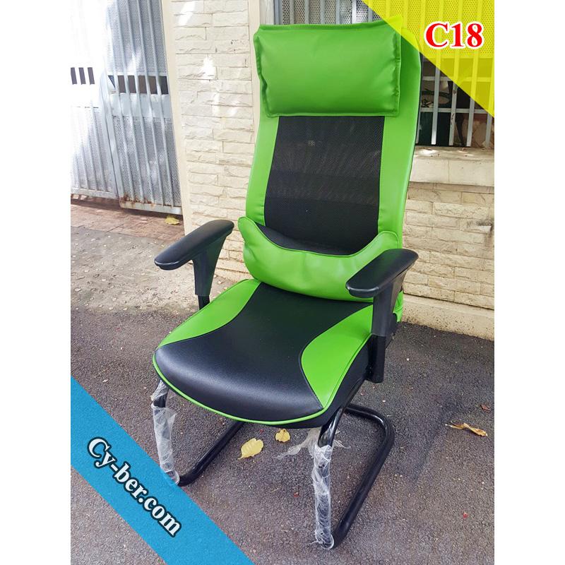 Ghế Gaming giá rẻ Cyber C18 màu xanh lá
