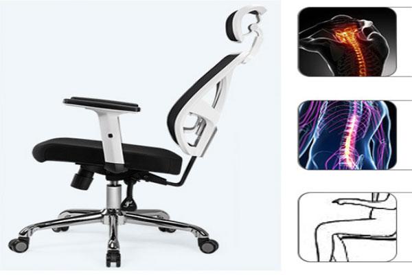 Ghế thiết kế hiện đại trẻ chống đau lưng và vai gáy