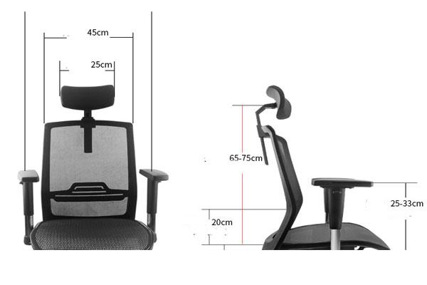 bề rộng ghế lớn thoải mái cho người ngồi