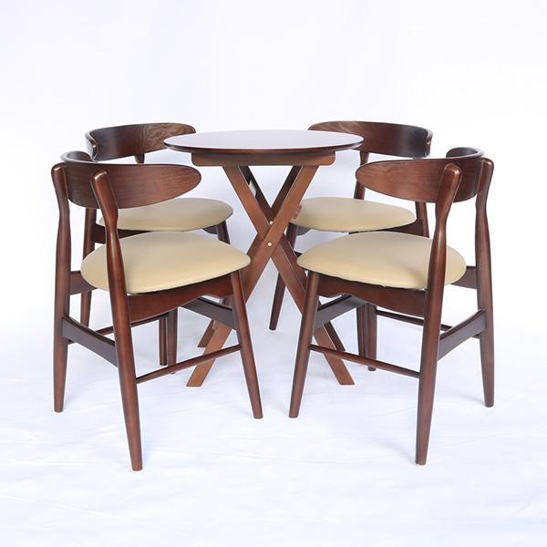 Bộ bàn ghế cafe 4 ghế Moon