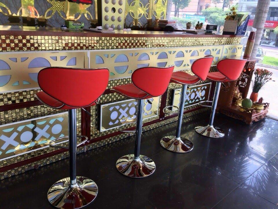 Ghế bar xoay cao cấp màu đỏ