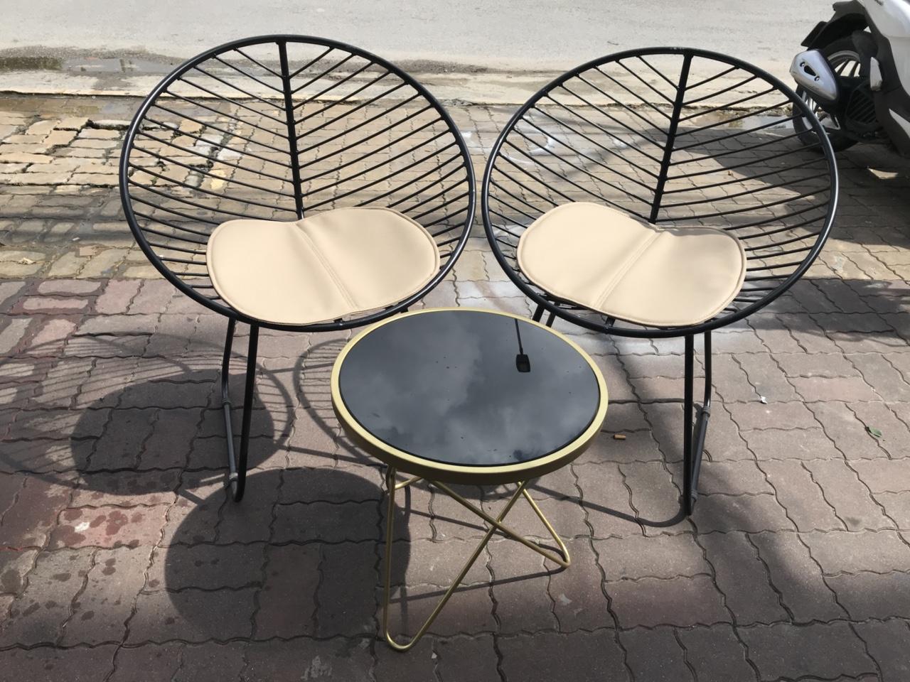 Ghế sắt cafe ngoài trời