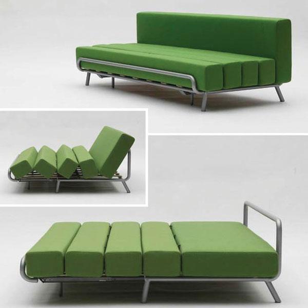 Mẫu số 2 - Ghế sofa thiết kế màu xanh ấn tượng vừa để ngủ vừa để ngồi