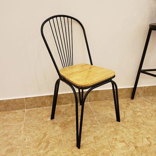 Ghế Tolix mặt gỗ