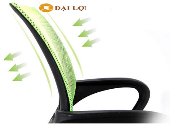 phần lưng của ghế AGL112 thiết kế cong với phần lưới tạo sự êm ái và thoải mái cho người ngồi. Thiết kế lưng cong để tránh việc ngồi gù lưng