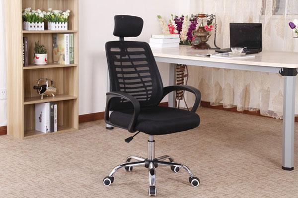 Ghế GL117 tại văn phòng kết hợp với mẫu bàn chân sắt