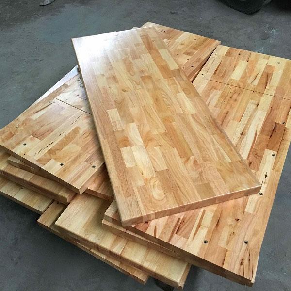 Mặt bàn gỗ cao su