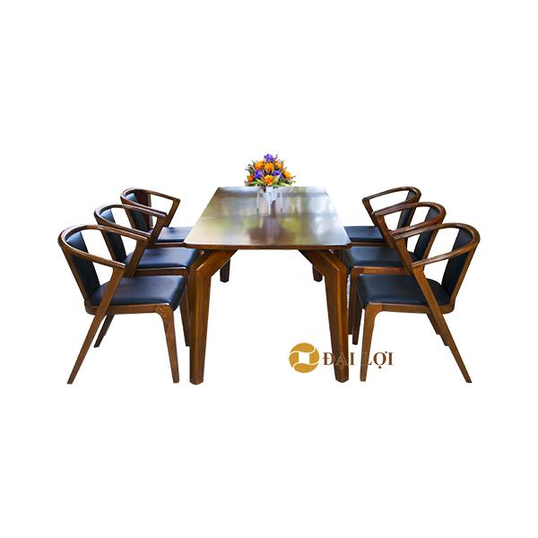 Bàn ghế ăn gỗ tự nhiên cao cấp DRAGON 109