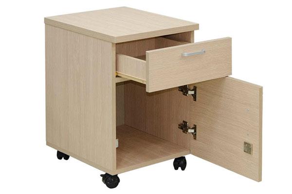 tủ hộc có 2 ngăn kéo nhỏ và to để chứa đồ, bộ khóa đi kèm