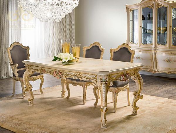 Bàn ghế ăn phong cách tân cổ điển