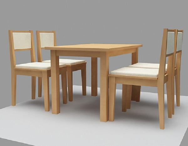 Bàn ghế ăn đơn giản