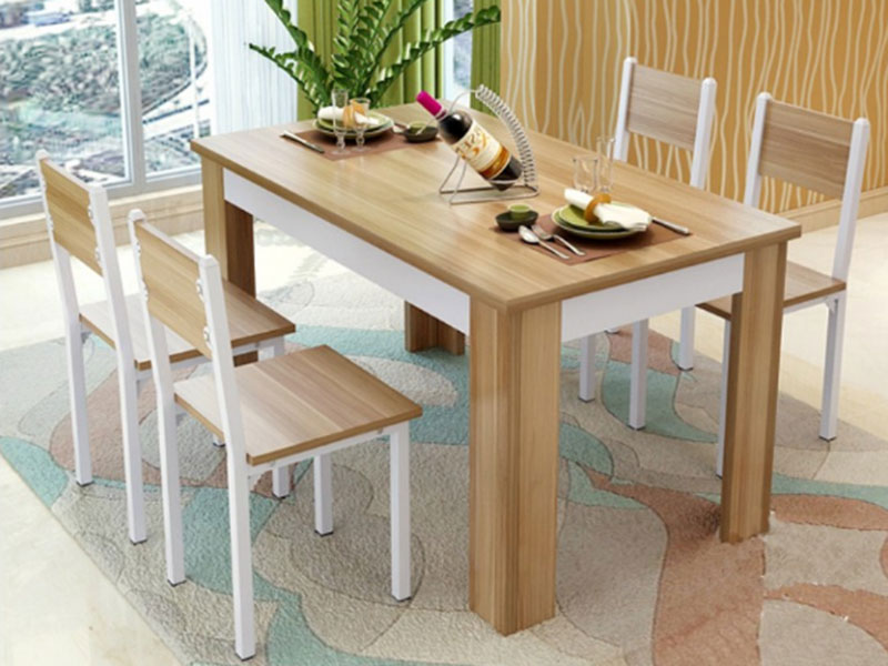 Bàn ghế ăn gỗ công nghiệp
